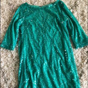 Never worn! Forever21 teal sequin dress